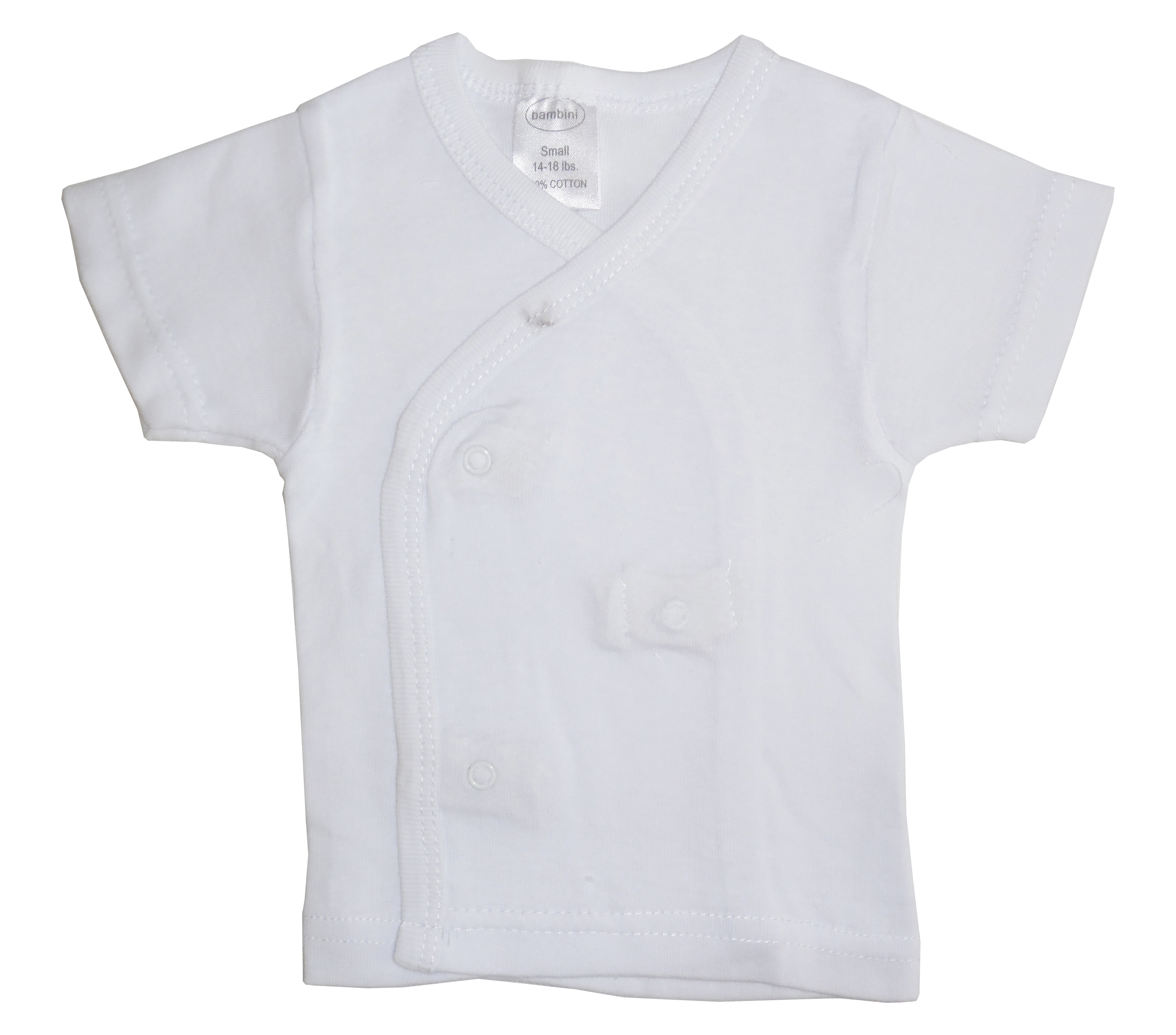 White side snap Short Sleeve SHIRT