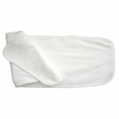 2-Ply Terry Solid White Burp Cloth - 1025W