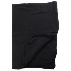 Interlock Black Receiving Blanket
