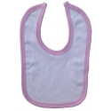 2-Ply Interlock White with Pink Trim Infant Bib - 1023P