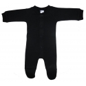 Interlock Black Closed-Toe Sleep & Play Long Johns - 515D