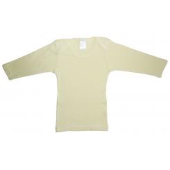 Rib Knit Yellow Long Sleeve Lap T-Shirt - 053B