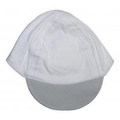 Interlock White with Pastel Brim Baseball Cap - 1122