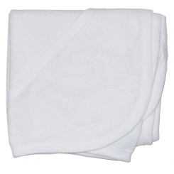 Cotton Terry Blue Trim Hooded Bath Towel - 021B W