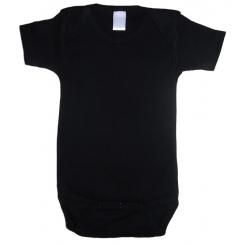 Interlock Black Short Sleeve Onezie - 0010BL