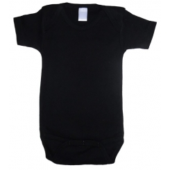 Interlock Black Short Sleeve Oneziee - 0010BL