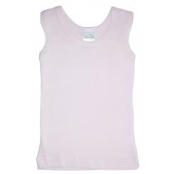 Pink Rib Knit Sleeveless Tank Top Shirt - 036B