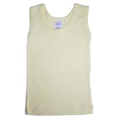 Yellow Rib Knit Sleeveless Tank Top Shirt - 037B