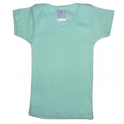 Rib Knit Aqua Short Sleeve Lap T-Shirt