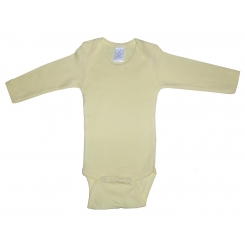 Rib Knit Yellow Long Sleeve Onezie