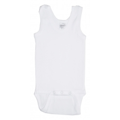Rib Knit White Sleeveless Tank Top Onezie