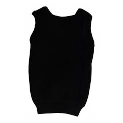 Rib Knit Black Pet Shirt - 3900BB