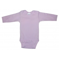 Rib Knit Pink Long Sleeve Onezie