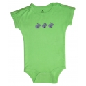 Green One Piece with Shoulder Snaps