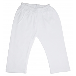 White Interlock Sweat Pants