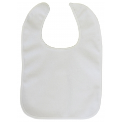 2-Ply Terry Pastel Trim Large Bib - 1027