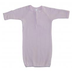 Preemie Pink Rib Knit Gown