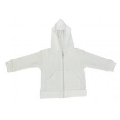 White Interlock Hooded Sweat Shirt - 417