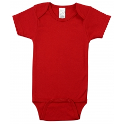 Red Interlock Short Sleeve Bodysuit Onezies