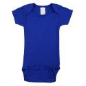 Blue Interlock Short Sleeve Bodysuit Onezies