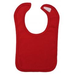 Interlock Solid Red Bib