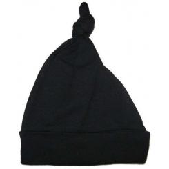 Interlock Black Knotted Cap