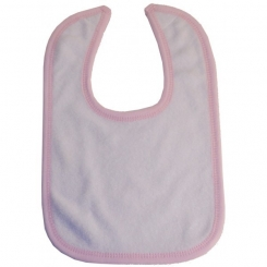 2-Ply Terry Pink Trim Bib - 1024P